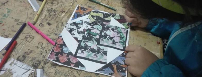 Il cavaliere escher per i bambini laboratorio kids for Escher mostra catania