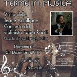PeriPeri - Eventi a Catania - Il violinista Fabio Raciti suona Vivaldi, Bach, Bellini alle Terme Achilliane