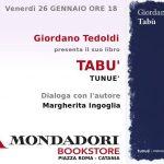 """PeriPeri - Eventi a Catania - Al Mondadori Bookstore presentazione del libro """"Tabù"""""""