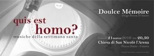 Eventi a Catania - Qui es homo